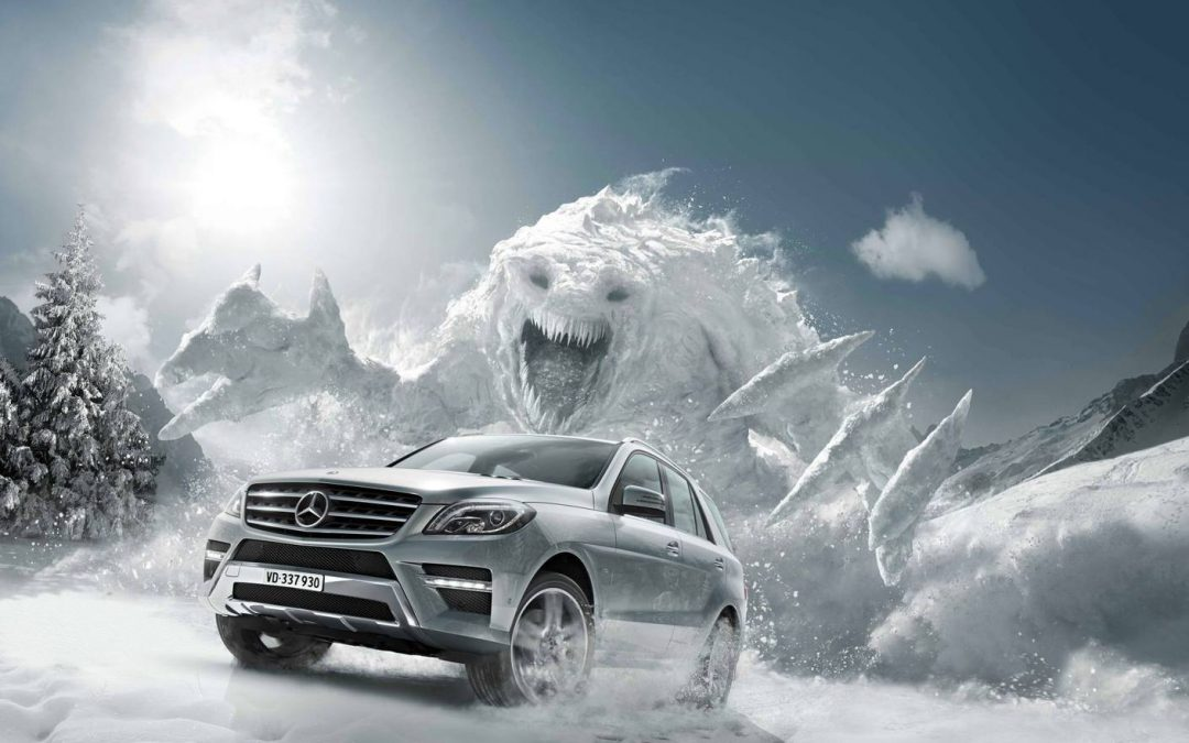 Mercedes Snow Monster  by Mackevision